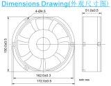 Ec17251 охлаждающий вентилятор вентилятора 172*150*51 mm