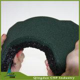 telha de borracha do osso de cão da cor verde da espessura de 25mm para o cavalo