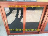 Ventana de desplazamiento horizontal de aluminio con las redes de mosquito, ventana de desplazamiento de cristal de la aleación de aluminio de la doble vidriera