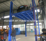 Подъем автомобиля гаража подвала 4 столбов