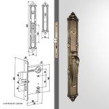 Het hoge Slot Handleset van het Tapgat van de Cilinder van de Veiligheid Enige in Antiek Messing