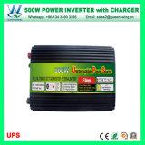 CC di 500W 12V/24V all'invertitore di potere dell'UPS di CA 110V/220V con il caricatore (QW-M500UPS)