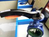 Дуктильный тип клапан-бабочка вафли места утюга PTFE с ручкой