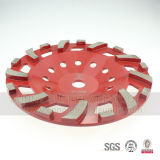 "roda de moedura concreta K06 do diamante concreto da placa de moedura 4 "" 4.5 "" 5 "" 6 """