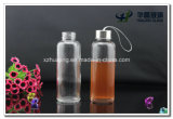 Silver Capの400ml Empty Clinder Clear Glass Water Bottle