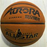 Baloncesto barato de Desgastar-Resistencia modificado para requisitos particulares zurriago de cuero 8pieces 4#5#6#7# de la calidad de Microfiber del baloncesto