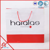 Bolso de compras impreso insignia del cliente, bolso del regalo, bolsa de papel con la maneta
