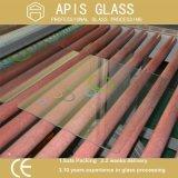 glace Tempered estampée par écran en soie de 4mm avec des bords de crayon