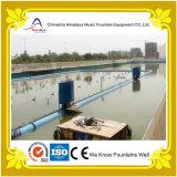 Grande fontana di acqua di galleggiamento di musica per il paesaggio del fiume