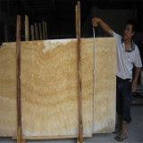 卸し売り磨かれた黄色い蜂蜜のオニックス大理石