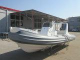 Liya a stigmatisé la côte 5.2m de la Chine de produit fibre de verre le bateau gonflable rigide (HYP520D)