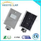L'alta luminosità 6W a 120W IP65 ha integrato tutti in una lista solare di prezzi dell'indicatore luminoso di via del LED