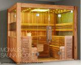 Pièce en bois traditionnelle de sauna de pièce de sauna de maison de modèle de la Finlande (M-6046)
