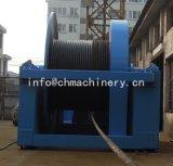 Alzamiento eléctrico de la devanadera de la mina en el eje vertical