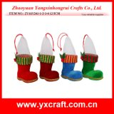Natale Decoration (ZY16Y193-1-2 14CM) Sock Product Christmas Boot