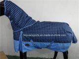 2016 تصميم جديد 600D للماء وتنفس الشتاء الحصان البساط مع غطاء قابل للفصل الرقبة
