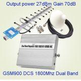 do impulsionador móvel do sinal da potência 27dBm repetidor duplo da DCS da faixa 900/1800MHz G/M