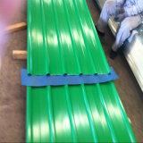 Hoja acanalada revestida del material para techos del color largo del palmo de SGCC CGCC Dx51d