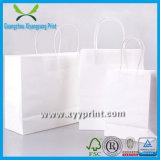 Haute Qualité personnalisé Kraft blanc sac de papier avec le logo Imprimer