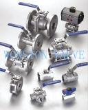 le robinet à tournant sphérique de l'acier inoxydable 1-PC réduisent le port, 1000wog, Pn64