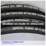 Tubo flessibile di gomma idraulico Braided del filo di acciaio di R1002at/2sn