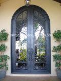 アーク家のための上の古典的なデザイン機密保護の錬鉄の両開きドア