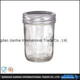 Runde Glaswaren für Speicher-und Stau-Glas mit Stailess Stahl-Kappen