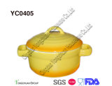 Casseruola di ceramica con Lid-2qt
