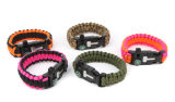 Fire Starter Compass Whistle Paracord Bracelet