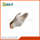 Luvas pulverizadas descartáveis médicas da examinação do látex