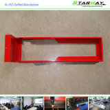 Peças revestidas brancas vermelhas feitas sob encomenda da fabricação de metal