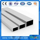 Profil en aluminium de fenêtre d'extrusion de couleur argentée