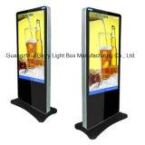 Doppelte Seite, die 42 '' Kiosk LCD bekanntmacht Spieler Selbst-Steht