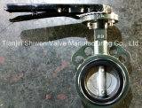 Tipo novo válvula da bolacha do projeto de borboleta com operador da alavanca