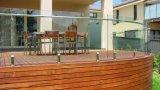 옥외 구부리고는 및 구부리는 박판으로 만들어진 강화 유리 난간 또는 구부려진 갑판 방책