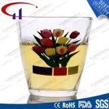 tazza di vetro stampata senza piombo della spremuta del fiore 160ml (CHM8189)