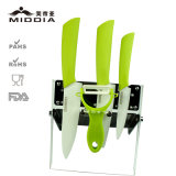 5PCS Ceramic Kitchen Tool Set per Fruit/Knife/Peeler del Chef con Block