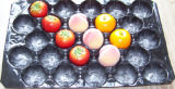 Produce fresco Packaging Eco-Friendly Poly Disposable Plastic Container per Fruit Protection e Supermarket Display