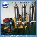 Diviseur hydraulique diesel professionnel de roche de block d'alimentation électrique avec les cylindres en acier