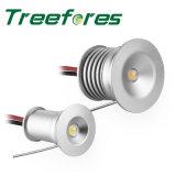 luz LED impermeable del punto de 1W IP65 LED que enciende la lámpara al aire libre del jardín