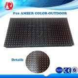 Semioutdoor extérieur imperméable à l'eau annonçant le module ambre simple d'Afficheur LED de la couleur P10