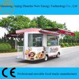 Camion Van de nourriture d'abris de double pour vendre les gâteaux et le biscuit (CE)