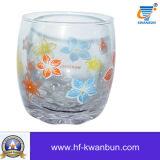 زهرة فنجان زجاجيّة مع ملصق مائيّ عصير فنجان [كب-هن0419]