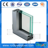 Perfil de aluminio anodizado blanco y negro rocoso para la puerta y la ventana