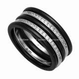 Di ceramica e 925 monili d'argento, anello di modo (R21133)