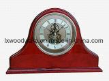 Часы стола каминной доски грандиозной отделки рояля Rosewood деревянные