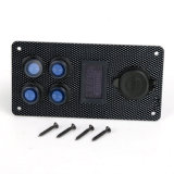 Панели перекидного переключателя шлюпки датчик вольтметра заряжателя USB морской включеный-выключеной СИД автомобиля двойной