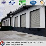 Construction de bâti en acier de modèle pour l'entrepôt avec la tôle d'acier