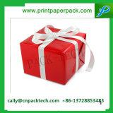 La cinta Shinny el rectángulo de empaquetado del regalo de papel