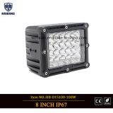 indicatori luminosi quadrati del punto del lavoro di azionamento di 100W LED in 12V 24V IP67 per fuori dal camion dell'automobile della strada